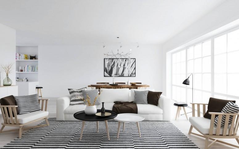 8 modern white nordic scandinavian style living room
