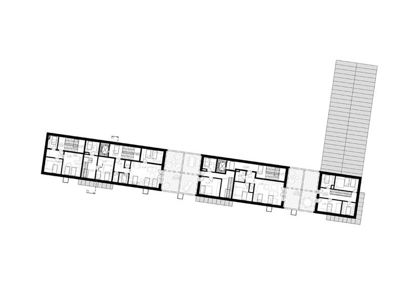 pôdorys - 3.NP bytový dom