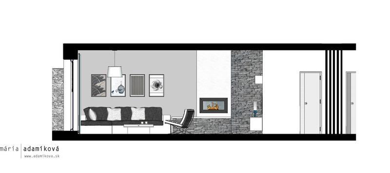 rezopohľad obývacou časťou