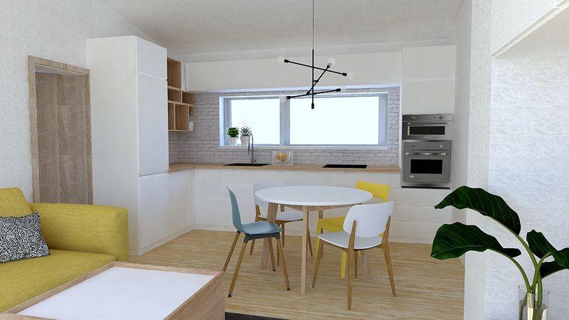 Svieži byt v žltej
