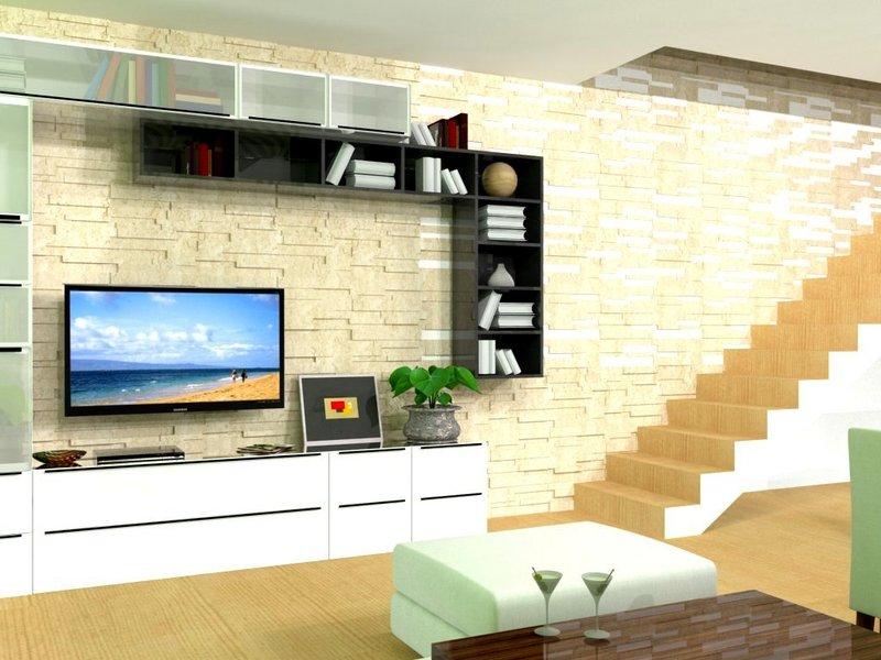 vizualizácia - obývacia časť