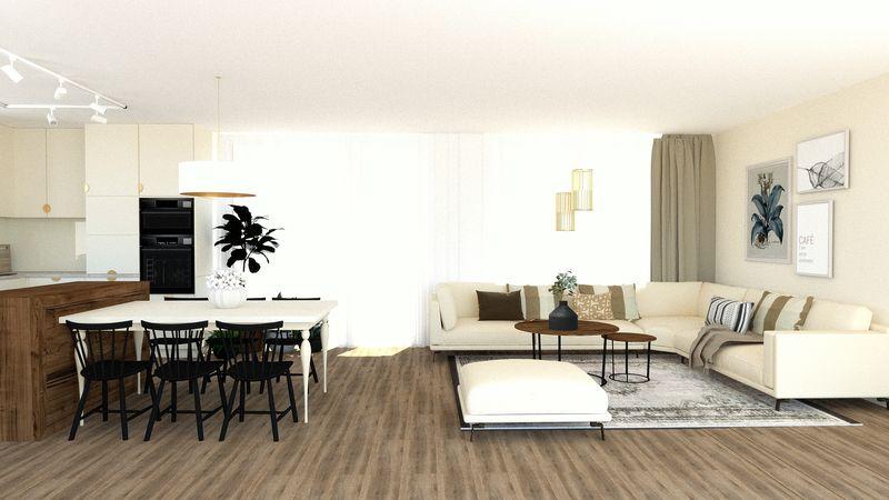 Elegantne ladený interiér v novostavbe