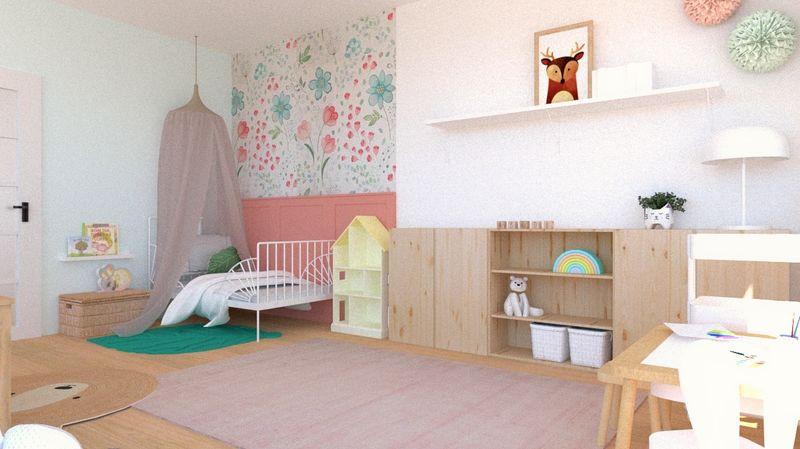 Návrh dievčenskej detskej izby