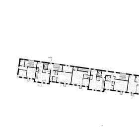 pôdorys - 2.NP bytový dom