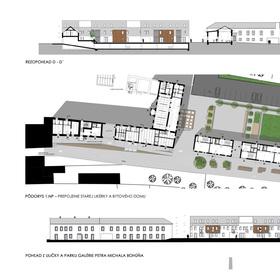 koncept - doplnenie tzv. Starej likérky o bytový dom
