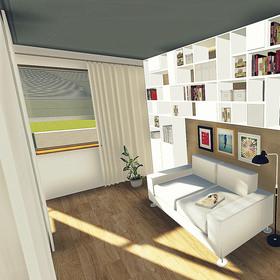 hosťovská časť obývacej izby