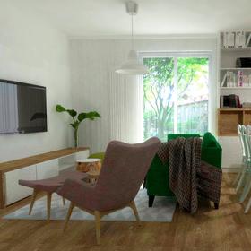 Návrh dennej časti bytu, Karlova Ves /2017/