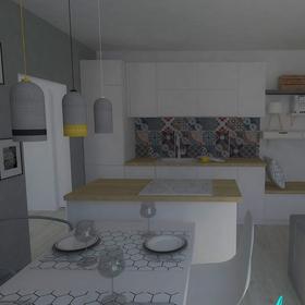 pohľad na kuchynskú časť